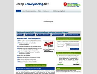 cheapconveyancing.net screenshot