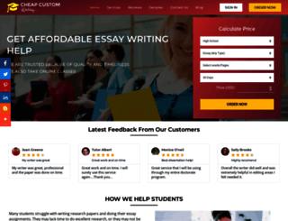 cheapcustomwriting.com screenshot