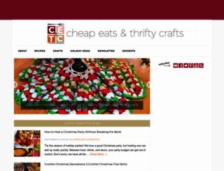 cheapeatsthriftycrafts.com screenshot