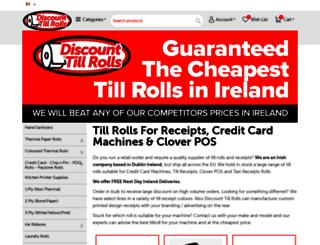 cheapertillrolls.ie screenshot
