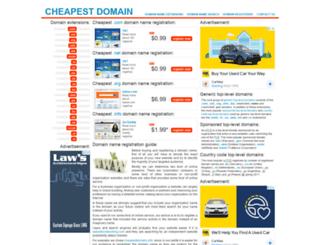 cheapestdomain.info screenshot