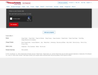cheapetickets.com screenshot