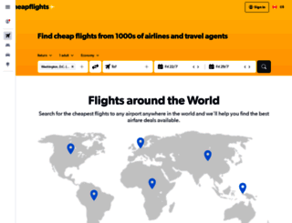 cheapflights.ca screenshot