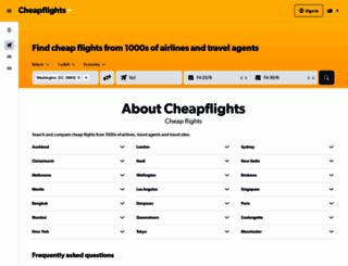 cheapflights.co.nz screenshot