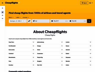 cheapflights.co.za screenshot