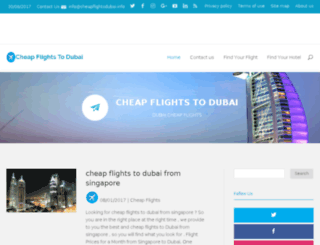 cheapflightsdubai.info screenshot