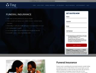 cheapfuneralinsurance.co.za screenshot