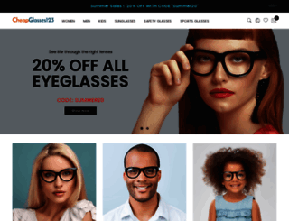 cheapglasses123.com screenshot