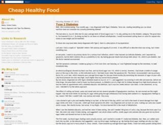 cheaphealthyfood.blogspot.com screenshot