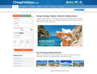 cheapholidays.com screenshot