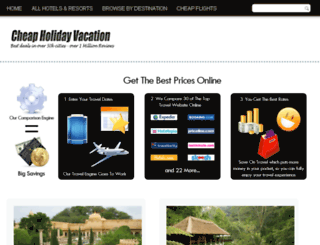 cheapholidayvacations.com screenshot