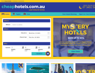 cheaphotels.com.au screenshot