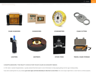 cheaphumidors.com screenshot