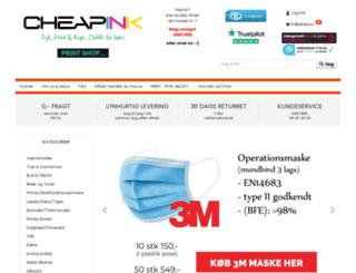 cheapink.dk screenshot