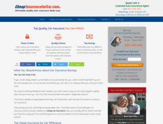 cheapinsuranceforcar.com screenshot