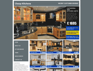 cheapkitchens.uk.com screenshot