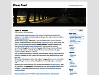 cheappearl.wordpress.com screenshot