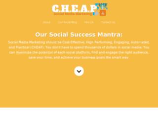 cheapsocialmediamarketingservice.com screenshot