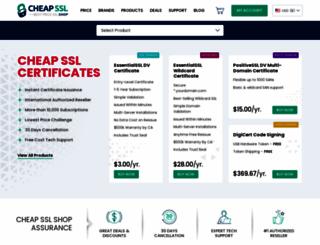 cheapsslshop.com screenshot