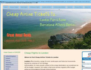 cheapticketstolondon.org screenshot