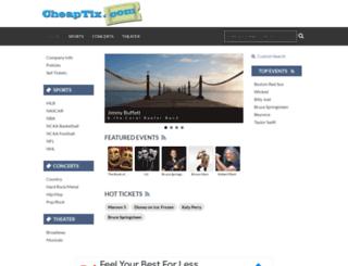 cheaptix.com screenshot
