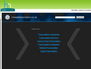 cheaptranscription.co.uk screenshot