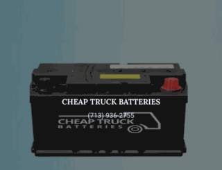 cheaptruckbatteries.com screenshot
