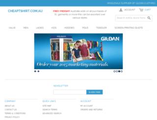 cheaptshirt.com.au screenshot