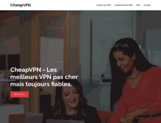cheapvpn.org screenshot