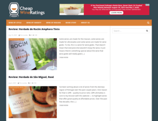 cheapwineratings.com screenshot