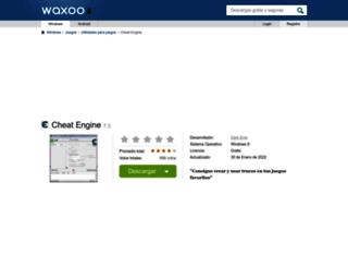 cheat-engine.waxoo.com screenshot