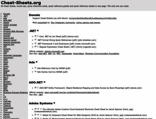 cheat-sheets.org screenshot