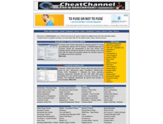 cheatchannel.com screenshot
