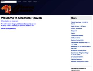 cheaters-heaven.com screenshot