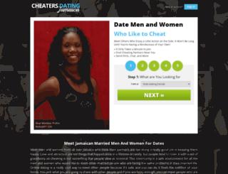 cheatersdatingjamaica.com screenshot