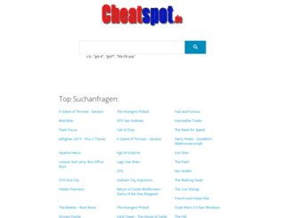cheatspot.de screenshot