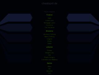 cheatspot.de screenshot