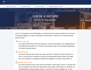 check-and-secure.com screenshot
