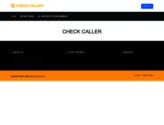 check-caller.com screenshot