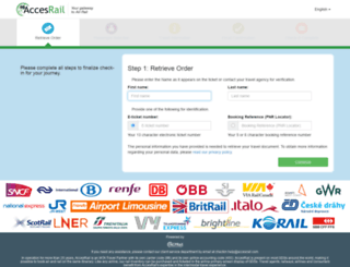 check-in.accesrail.com screenshot