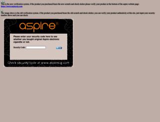 check.aspirecig.com screenshot