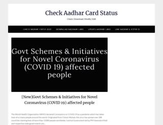 checkaadharcard.com screenshot