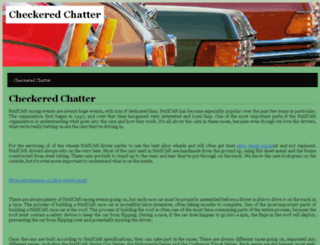 checkeredchatter.com screenshot