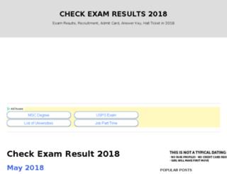 checkexamresults.org.in screenshot