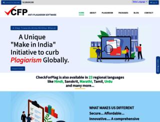 checkforplag.com screenshot