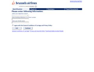 checkin.brusselsairlines.com screenshot