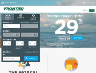 checkin.frontierairlines.com screenshot