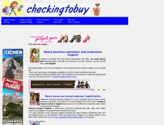 checkingtobuy.com screenshot