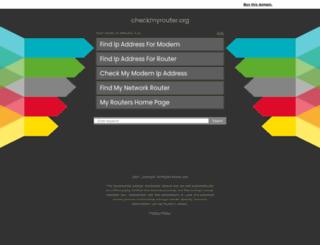 checkmyrouter.org screenshot