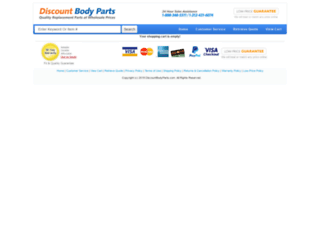 checkout.discountbodyparts.com screenshot